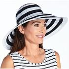 UPF 50+ Women's Striped Ribbon Bucket Hat