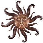 Metal Sunface Wall Sculpture