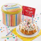 Birthday Confetti Cake in Tin with $5 Reward Card