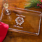 Personalized Holiday Wreath Serving Tray