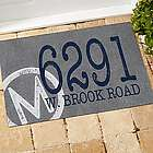 Personalized Initial and Address Stamped Recycled Rubber Doormat