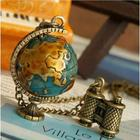 Vintage Spinning Globe Necklace