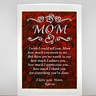 Mom Gift Plaque with Poetry Inscription