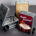 Personalized Mini Suitcase Favor Tins