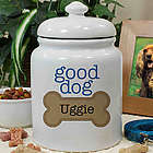 Personalized Ceramic Good Dog Treat Jar