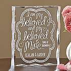 Personalized I Am My Beloved's Acrylic Block