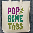 Poppin' Tags Small Canvas Tote