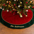 Velvet Personalized Christmas Tree Skirt