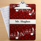 Music Teacher Musical Note Personalized Clipboard