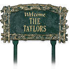 Personalized Recycled Aluminum Welcome Lawn Sign