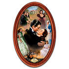 Gone with the Wind Framed Oval Collector Plate