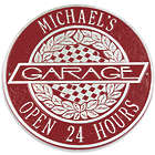 Victory Lane Personalized Red Garage Sign
