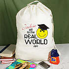 Off to the Real World Personalized Laundry Bag