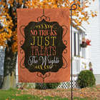 No Tricks, Just Treats Personalized Garden Flag