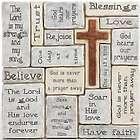 Crosswords Cross Wall Plaque