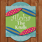 Personalized Summer Welcome Wall Sign