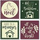 4 Christmas Song Coasters