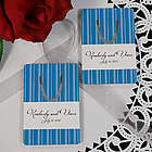 Personalized Striped Wedding Favor Bookmark