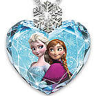 Disney Frozen Crystal Heart and Diamond Accent Pendant