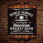 Personalized World Famous Whiskey Room Wall Art Bar Sign