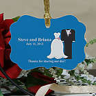 Personalized Bride and Groom Wedding Favor Ornament