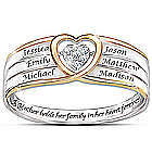 In A Mother's Heart Personalized Brilliant Motion Diamond Ring