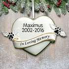 Personalized In Loving Memory Pet Ornament