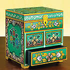 Hand-Painted Jewelry Box