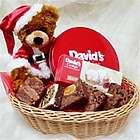 Christmas Bear with Goodies Basket