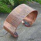 Golden Ratio Binary Code Copper Cuff Bracelet