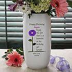 Birthday Blooms Personalized Ceramic Vase