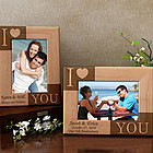 Personalized I Love You Wooden Picture Frame