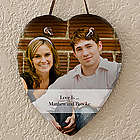 Photo Sentiments Personalized Heart Slate