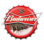 Budweiser Bottle Cap Marquee Wall Sign