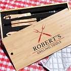Personalized Crossing Forks Grill Set