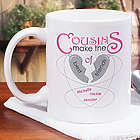 Personalized Cousins Make The Best of Friends Mug