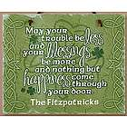 Personalized Old Irish Blessing Shamrock Slate