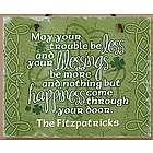 Personalized Old Irish Blessing Shamrock Slate