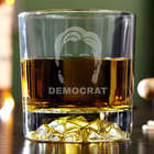 Hair of the Hillary Democrat Fairbanks Whiskey Glass