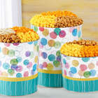 3 Flavors and 3.5 Gallons of Popcorn in Say It with Dots Tin