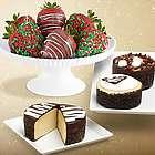 Cheesecake Trio and 6 Christmas Strawberries