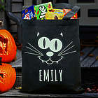 Personalized Glow in the Dark Halloween Cat Bag