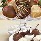 Chocolate-Dipped Cherries and Cocktail Strawberries