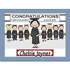 Personalized Graduation Class Cartoon Print