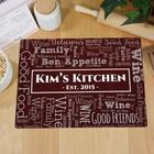 Personalized Word-Art Glass Cutting Board