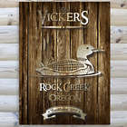 Personalized Rustic Wood Loon Cabin 18x24 Canvas Print