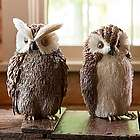 Natural Sisal Owl Figurines
