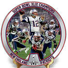 New England Patriots Super Bowl XLIX Porcelain Collector Plate