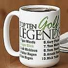 Personalized Golf Legends Mug