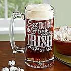 Personalized It's Good to Be Irish! Beer Mug
